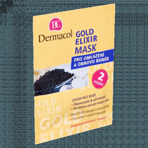 Dermacol Gold Elixir pleťová maska s kaviárem 2x8 g