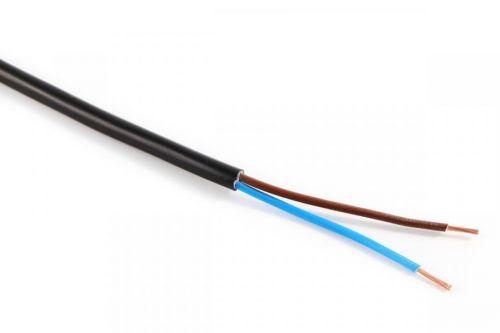 Kabel CYSY H05VV-F 2X1 černá PVC izolace slaněné licny ohebný vodič