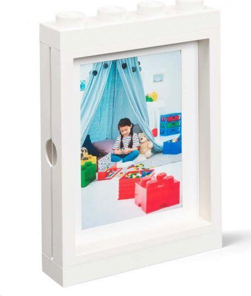 Bílý rámeček na fotku LEGO®, 19,3x4,7 cm