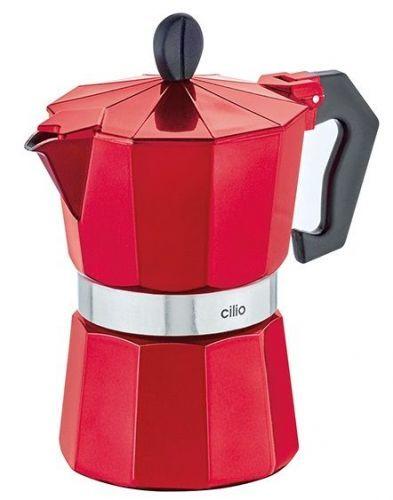 Cilio Vařič na espresso CLASSICO 3 šálky metalická červená