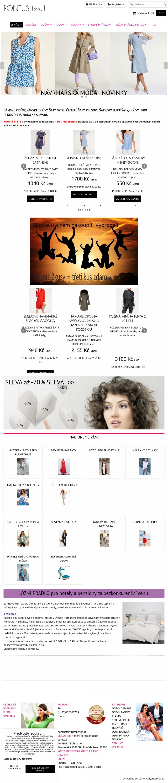 c33f71cfbdf Náhled internetové stránky Vzled internetové stránky obchodu Pontus textil  s.r.o.