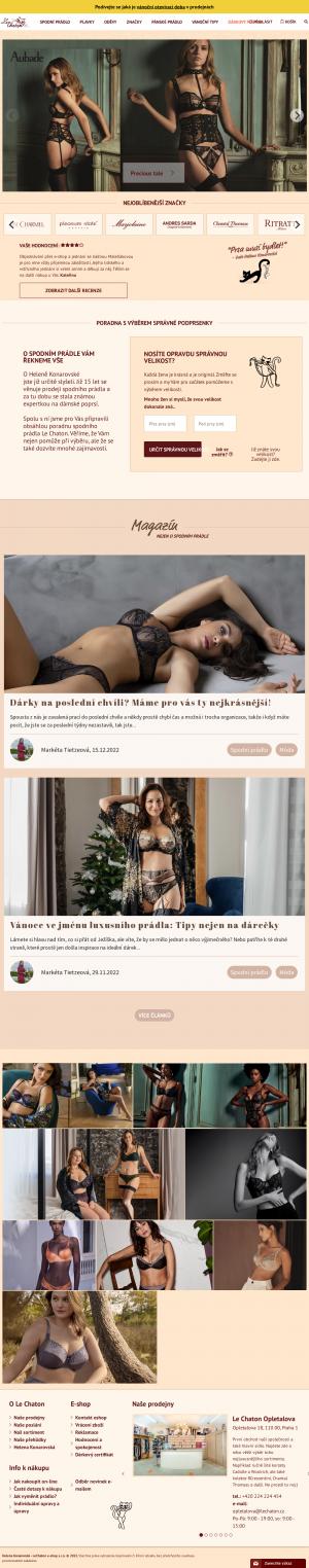 Vzled internetové stránky obchodu Le Chaton