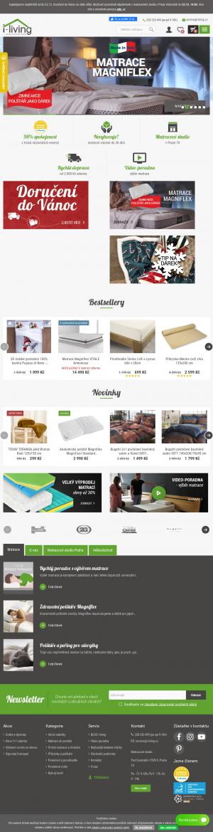 Vzled internetové stránky obchodu i-living