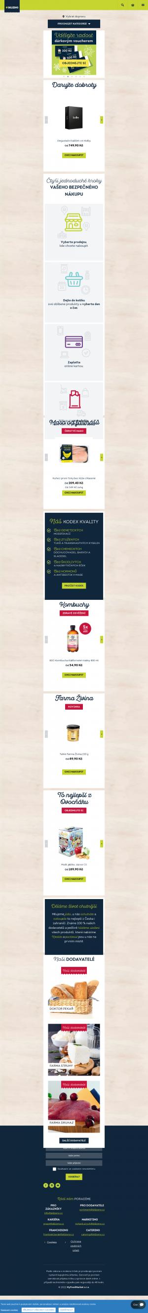 Vzled internetové stránky obchodu Sklizeno