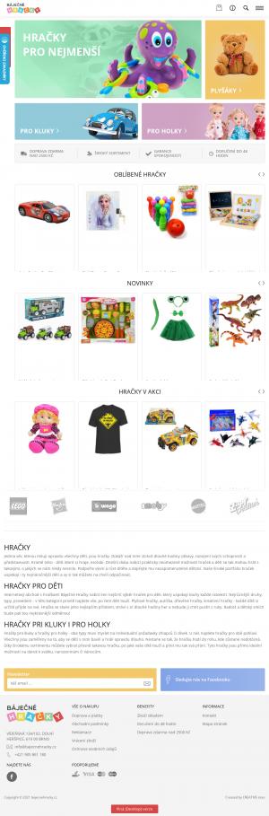 Vzled internetové stránky obchodu Báječné Hračky