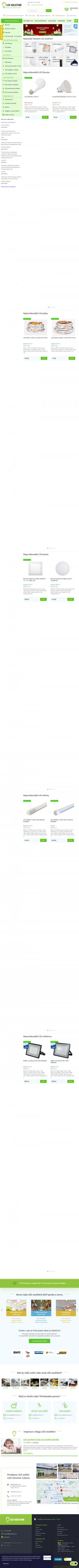 Vzled internetové stránky obchodu LED Solution