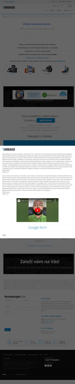Vzled internetové stránky obchodu Turbado