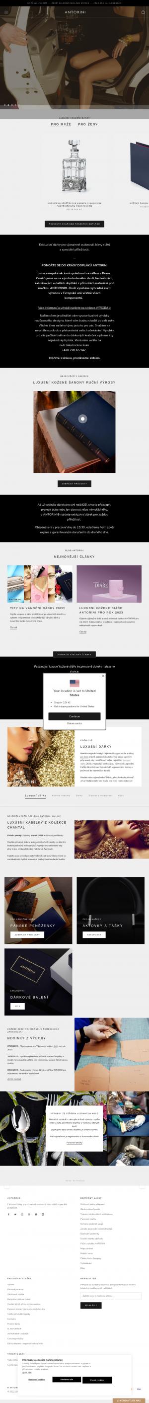 Vzled internetové stránky obchodu LUSSOLIBE Milano SE