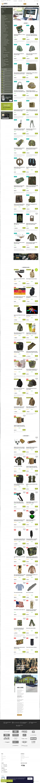 Vzled internetové stránky obchodu ARMY-SURPLUS
