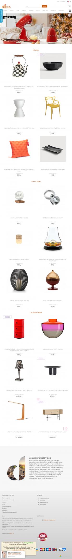 Vzled internetové stránky obchodu decor online