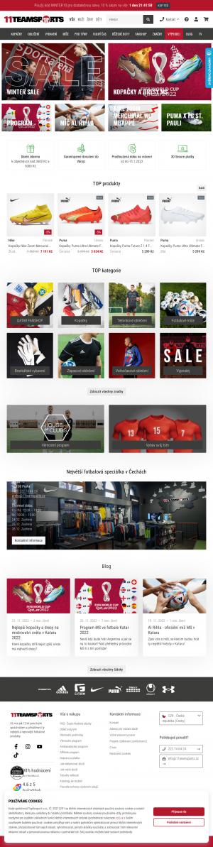 Vzled internetové stránky obchodu Top4Football.cz