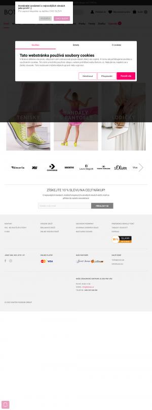 Vzled internetové stránky obchodu BOTOVO