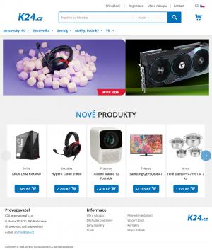 Vzled internetové stránky obchodu K24.cz