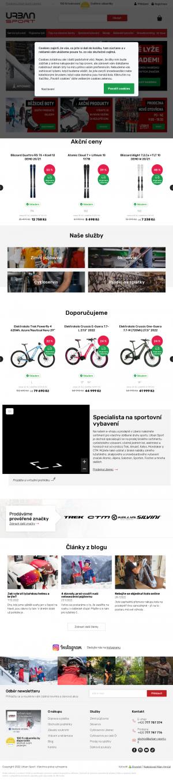 Vzled internetové stránky obchodu Urban Sport