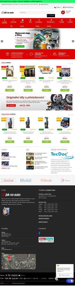 Vzled internetové stránky obchodu Jak na auto