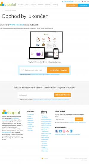 Vzled internetové stránky obchodu niVin