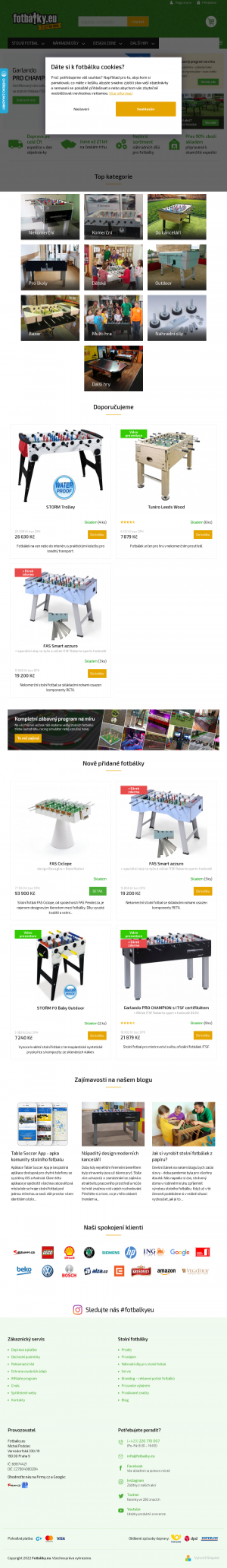 Vzled internetové stránky obchodu fotbálky.eu