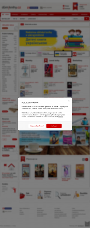 Vzled internetové stránky obchodu Důmknihy.cz