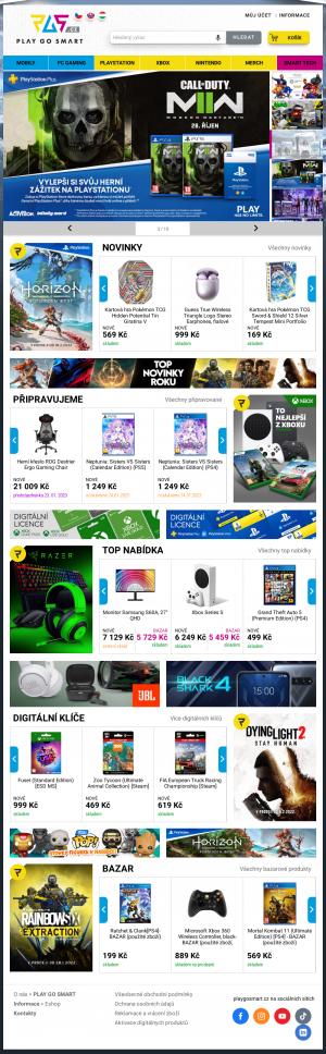 Vzled internetové stránky obchodu SuperGAMER.cz