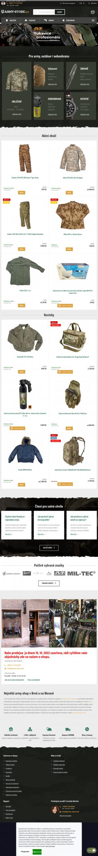 Vzled internetové stránky obchodu Army-store.net