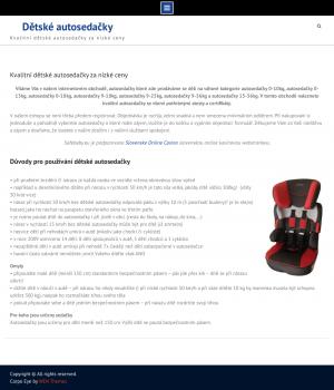 Vzled internetové stránky obchodu Dětské autosedačky