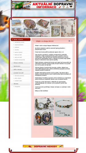 Vzled internetové stránky obchodu DH Art