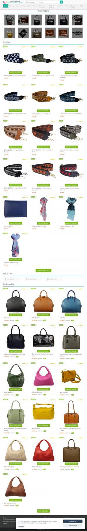 Vzled internetové stránky obchodu Dámské kabelky