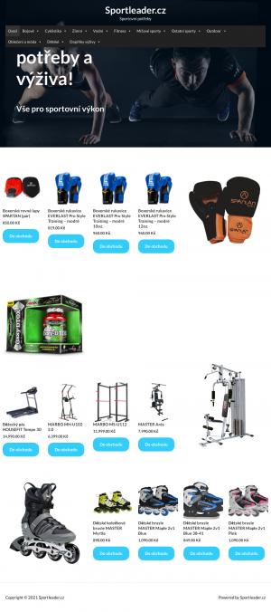 Vzled internetové stránky obchodu SportLeader