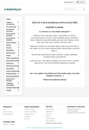 Vzled internetové stránky obchodu e-chujoviny.cz