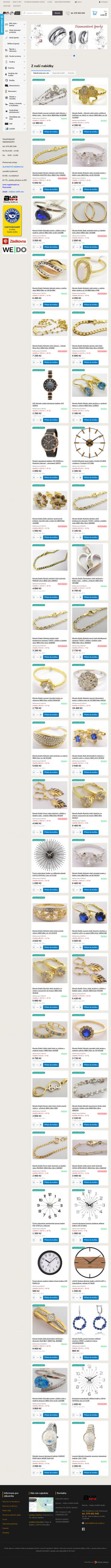 Vzled internetové stránky obchodu Klenoty - hodiny - diamanty Jindřich Budín
