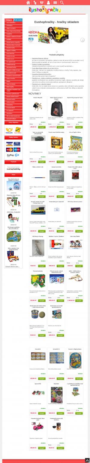 Vzled internetové stránky obchodu eushophracky