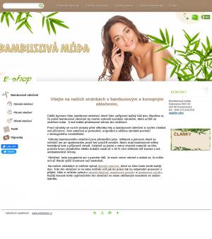 Vzled internetové stránky obchodu Bambusová móda