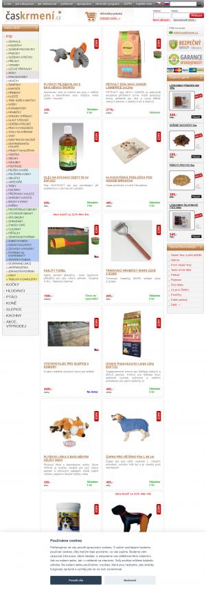Vzled internetové stránky obchodu ČasKrmení.cz