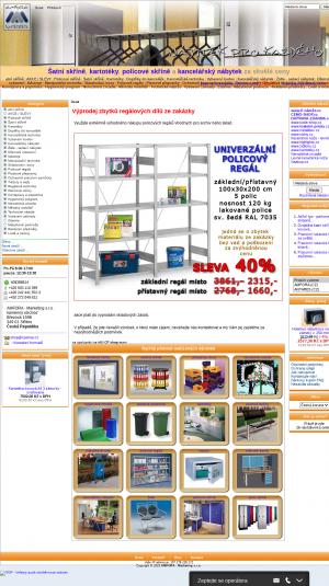 Vzled internetové stránky obchodu CPshop - nábytek pro každého