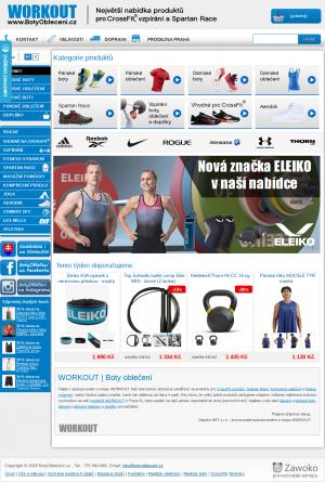 Vzled internetové stránky obchodu BotyObleceni.cz