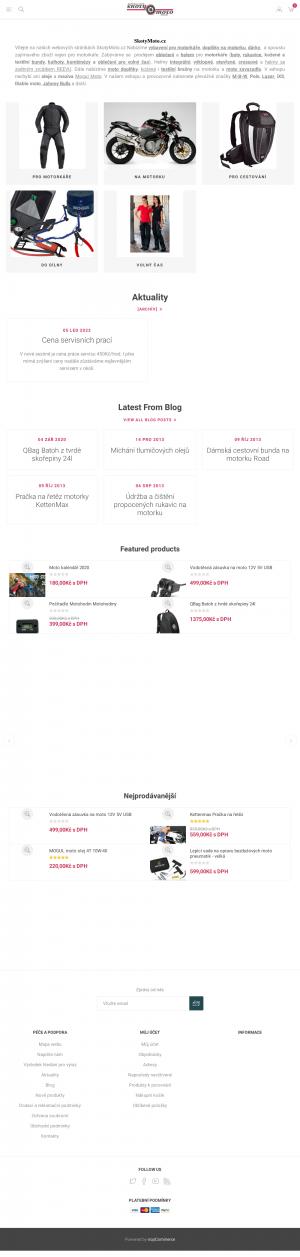 Vzled internetové stránky obchodu SkotyMoto.cz