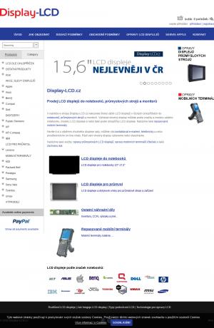 Vzled internetové stránky obchodu Display-LCD.cz
