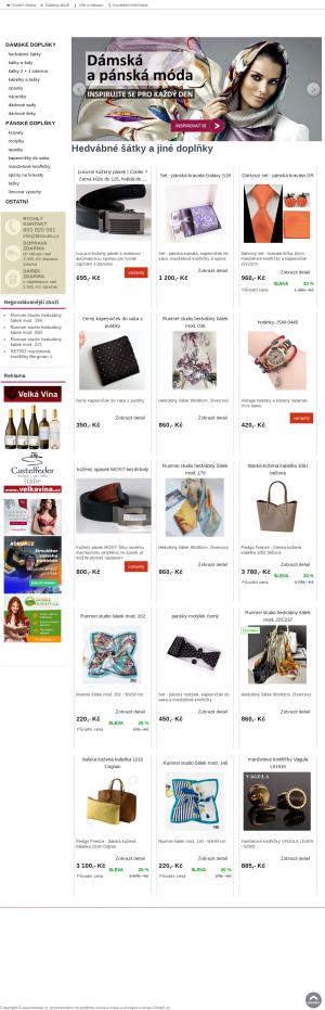 Vzled internetové stránky obchodu BB Moda | kabelky, pásky, šátky