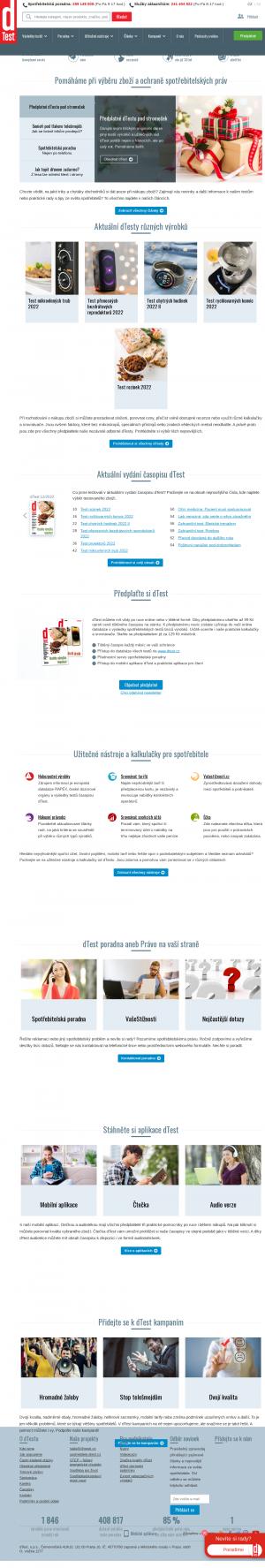 Vzled internetové stránky obchodu test.cz