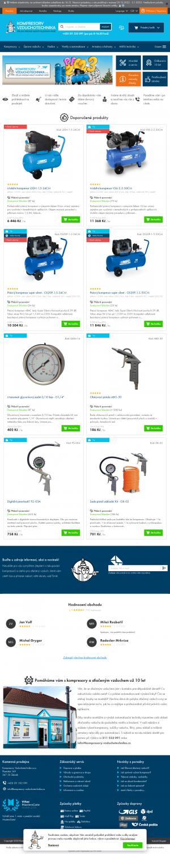 Vzled internetové stránky obchodu Kompresory Vzduchotechnika