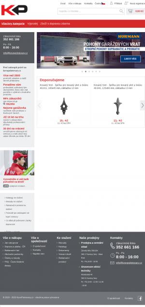 Vzled internetové stránky obchodu KovoPolotovary.cz