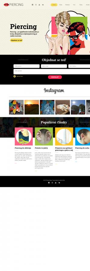 Vzled internetové stránky obchodu Piercing for You