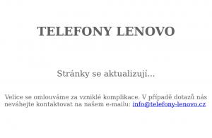 Vzled internetové stránky obchodu Telefony Lenovo