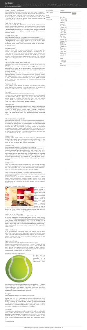 Vzled internetové stránky obchodu SatBazar Litvínov - Bazar satelitní techniky