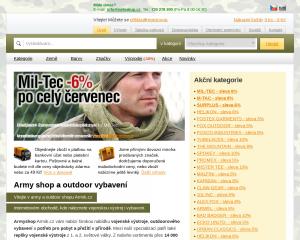 Vzled internetové stránky obchodu Trendy shop