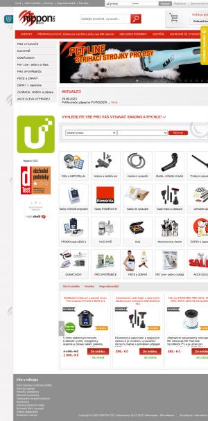 Vzled internetové stránky obchodu Nippon CEC domácí spotřebiče