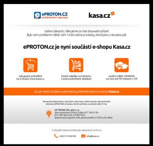 Vzled internetové stránky obchodu eProton