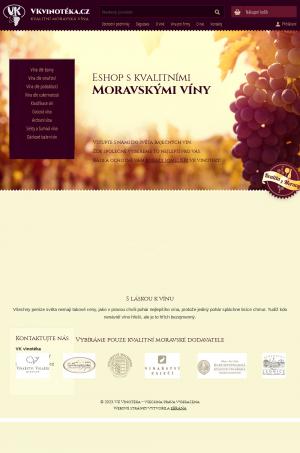 Vzled internetové stránky obchodu VKvinoteka.cz