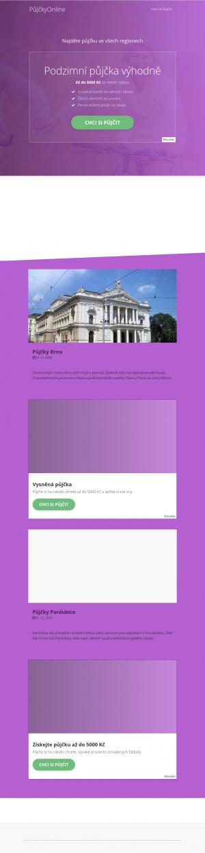Vzled internetové stránky obchodu Dumshop.cz