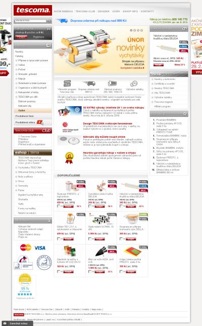 Vzled internetové stránky obchodu www.czOIL.cz